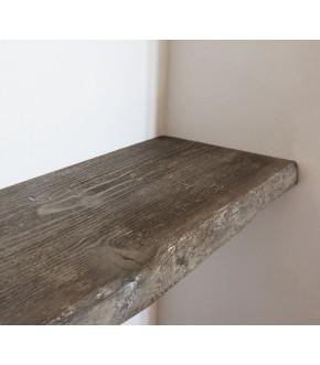Mensola in legno pino spazzolato 60x20