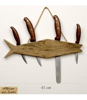 Fish: portacoltetti da parete in legno faggio