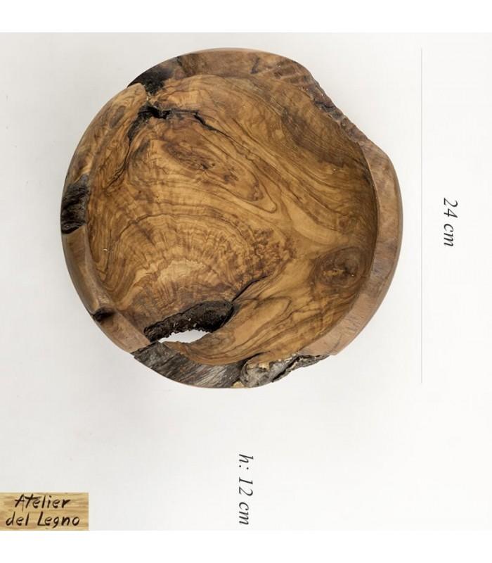 Bowl Natural Edge: ciotola in legno naturale di ulivo
