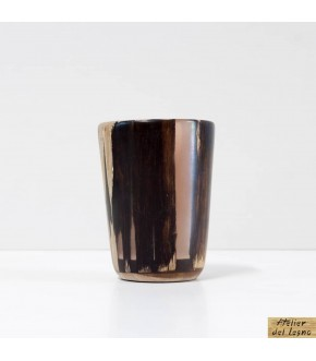 Bicchiere legno e resina -...