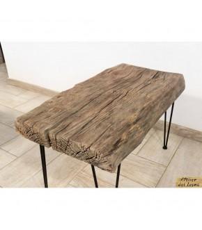 Tavolino da caffè da legno recuperato: legno salice e ferro.