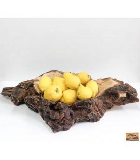 Portafrutta da tronco d'ulivo della Penisola Sorrentina