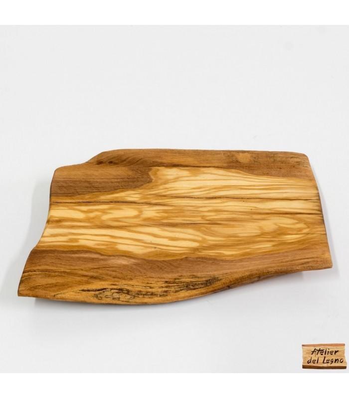 Vassoio in legno di ulivo, da legno di recupero