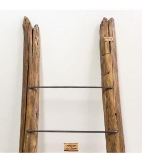 Natural Steps: scala porta-asciugamani in legno di recupero